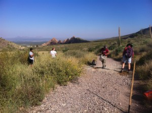 Work on the Dripping Springs Trail